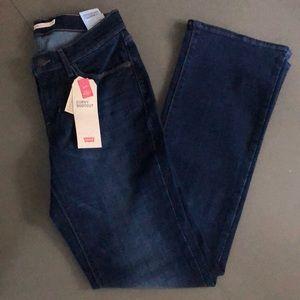 Levi's women's sculpt bootcut curvy jeans